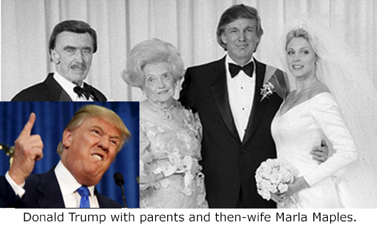 Donald Trump, Father, Mother, and Second Wife