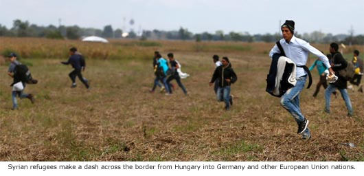 Migrants Dash Toward Europe