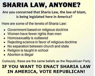 Sharia Law for the US?
