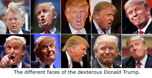 The Many Faces Of Donald Trump